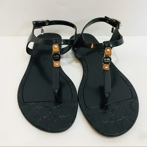 COACH Piccadilly Black Jelly Sandal